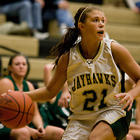 Jamestown Community College's Alicia Mikoicz during basketball action 12-2-11 Photo by Mark L. Anderson