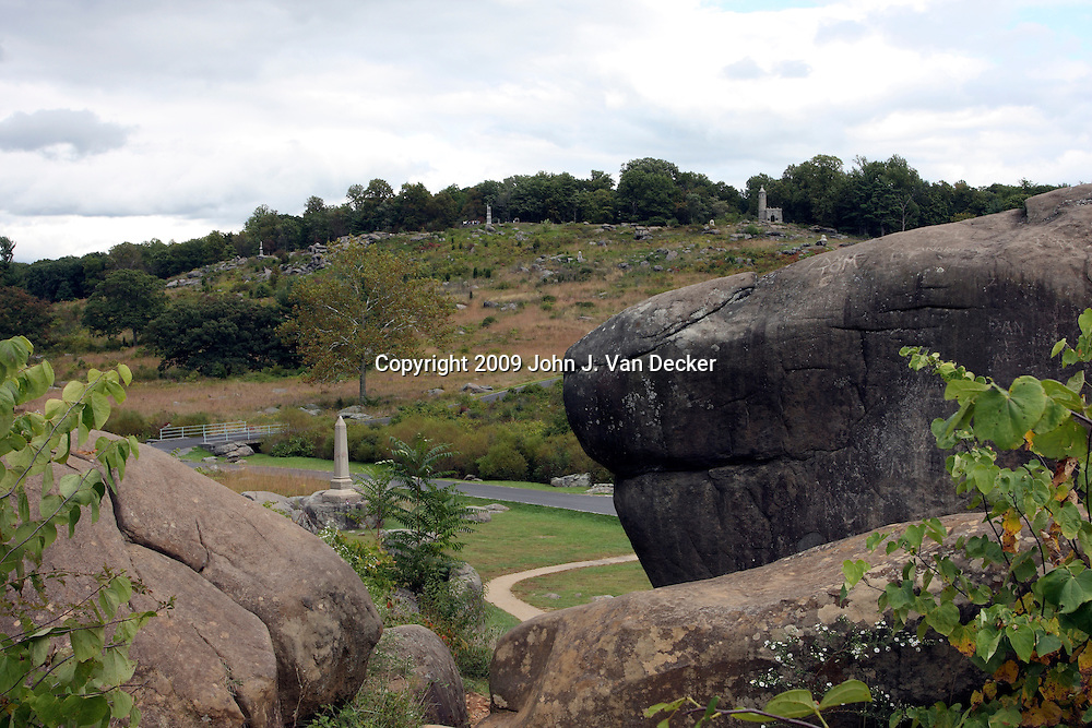 View of Little Round Top from Devil's Den, Gettysburg