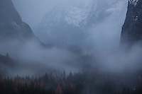 Snowstorm Over Yosemite Valley, Yosemite National Park, California
