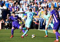 CD Leganes' Diego Rico and UD FC Barcelona's Nelson Semedo  during La Liga match. November 1,2017. (ALTERPHOTOS/Inma Garcia)