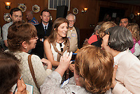 Caroline Kennedy speaks at Harts Turkey Farm in Meredtih, New Hampshire in support of President Barack Obama Thursday, June 28, 2012.   (Karen Bobotas/for the Laconia Daily Sun)