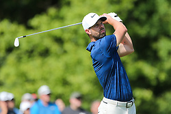 September 2, 2018 - Norton, Massachusetts, United States - Kevin Tway tees off the 16th hole during the third round of the Dell Technologies Championship. (Credit Image: © Debby Wong/ZUMA Wire)