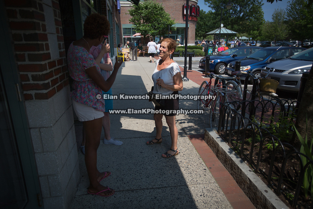 Persons pictured: Susan E. of Brookline, MA<br /> <br /> A group of pro-Israel activists, mainly made up of local students, counter protest a recent pro-Palestinian campaign to boycott a local store. The pro-Palestinian activists disagreed with the store's decision to sell Sodastream, an Israeli company. The pro-Israel group responded by purchasing a number of Sodastream products at Tags Hardwear on July 13, 2014 in Cambridge, Massachusetts. Events escalated when a pro-Israel activist was assaulted, and police were called. (Photo by Elan Kawesch/The Times of Israel)