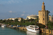 SPAIN, ANDALUSIA, SEVILLE Moorish Torre del Oro (Gold Tower)