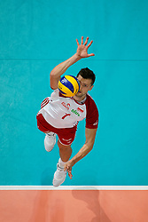 23-09-2019 NED: EC Volleyball 2019 Poland - Germany, Apeldoorn<br /> 1/4 final EC Volleyball Poland win 3-0 / Piotr Nowakowski #1