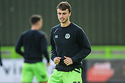Forest Green Rovers James Morton(15), on loan from Bristol City warming up during the Leasing.com EFL Trophy match between Forest Green Rovers and Coventry City at the New Lawn, Forest Green, United Kingdom on 8 October 2019.