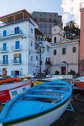 Sorrento, Italy, September 15 2017. Boats in Marina Grande in Sorrento, Italy. © Paul Davey