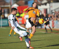 Cambridge United v Plymouth Argyle, Sky Bet League Two Abbey Stadium, Saturday 4th February 2017. <br /> Score 0-1 (SARCEVIC) LUKE BERRY CAMBRIDGE UNITED,