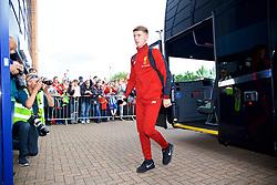 WIGAN, ENGLAND - Friday, July 14, 2017: Liverpool's Ben Woodburn arrives ahead of a preseason friendly match against Wigan Athletic at the DW Stadium. (Pic by David Rawcliffe/Propaganda)