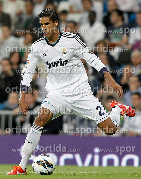 08.05.2013, Estadio Santiago Bernabeu, Madrid, ESP, Primera Division, Real Madrid vs FC Malaga, 36. Runde, im Bild Real Madrid's Raphael Varane // during the Spanish Primera Division 36th round match between Real Madrid CF and Malaga FC at the Estadio Santiago Bernabeu, Madrid, Spain on 2013/05/08. EXPA Pictures © 2013, PhotoCredit: EXPA/ Alterphotos/ Acero..***** ATTENTION - OUT OF ESP and SUI *****