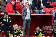 Charlton Athletic Head Coach Jose Riga looking on during the Sky Bet Championship match between Charlton Athletic and Birmingham City at The Valley, London, England on 2 April 2016. Photo by Matthew Redman.