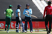 Tom Banton  asks for a review of his dismissal during the One Day International match between South Africa and England at PPC Newlands, Capetown, South Africa on 4 February 2020.