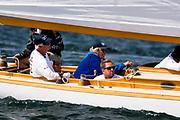 Ruweida V sailing in the Panerai Newport Classic Yacht Regatta, day two.