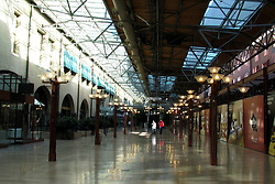 20 October 2010: inside Union Station looking east shows a pretty desolate building.  A once thriving attraction has become an almost ghost town from the effects of the recession of 2008 and 2009.  The recovery of 2010 has not brought many vendors back. St. Louis Missouri