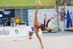 Staniouta Melitina of Belarus competes during 29th MTM - International tournament in rhythmic gymnastics Ljubljana, on March 12, 2016 in gymnastics center Ljubljana, Ljubljana, Slovenia.  Photo by Grega Valancic / Sportida