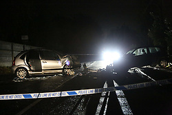 Otterborune,Hampsihre Wednesday 7th December 2016 A Road remains closed following a serious head on collision between a Silver Citroen C3  and a Blue Renault Clio in the village of Shawford near Winchester this evening.<br /> <br /> It is believed that the Citroen was heading towards Winchester and the Renault in the opposite direction towards Otterbourne when the horrific collision happened on Otterbourne Road. The Silver Citroen C3 is from Overseas<br /> <br /> <br /> <br /> A 52-year-old woman and 5-year-old boy have both been rushed to hospital with life threatening injuries and are both currently in surgery.<br /> <br /> Otterbourne Road is currently closed where it junctions meet with Hurdle Way, Shawford Road, Badger Farm Road and Grove Road. Drivers are advised to avoid the area.A local diversion has been set up for resident.<br /> Collision scene and accident investigators are at the scene at are likely to remain through out the evening, they are working with officers from the Hampshire Road Policing based at Whitchurch.<br /> Police have informed the next of kin of those involved.<br /> <br /> Officers have said that they expect the road to remain closed over night and will be reopened in the morning.<br /> <br /> Investigations into the exact circumstances of the collision continue and officers are keen to speak to anyone who may have seen the incident or either of the vehicles prior to the collision. Officers have urged drivers to check dash cam footage to see if they may have captured the collision<br /> <br /> Anyone with information is asked to contact Whitchurch Roads Policing Unit on 101 or Crimestoppers anonymously on 0800 555 111.&copy;UKNIP