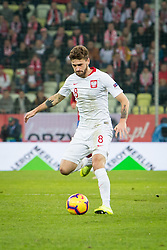November 15, 2018 - Gdansk, Pomorze, Poland - Damian Szymanski (8) during the international friendly soccer match between Poland and Czech Republic at Energa Stadium in Gdansk, Poland on 15 November 2018  (Credit Image: © Mateusz Wlodarczyk/NurPhoto via ZUMA Press)