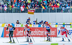 22.02.2019, Seefeld, AUT, FIS Weltmeisterschaften Ski Nordisch, Seefeld 2019, Nordische Kombination, Langlauf, im Bild v.l. Eric Frenzel (GER), Franz-Josef Rehrl (AUT), Mario Seidl (AUT), Jan Schmid (NOR) // f.l. Eric Frenzel of Germany Franz-Josef Rehrl of Austria Mario Seidl of Austria and Jan Schmid of Norway during the Cross Country Competition of Nordic Combined for the FIS Nordic Ski World Championships 2019. Seefeld, Austria on 2019/02/22. EXPA Pictures © 2019, PhotoCredit: EXPA/ Stefan Adelsberger