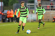 Forest Green Rovers Charlie Cooper(20) runs forward during the Vanarama National League first leg play off match between Dagenham and Redbridge and Forest Green Rovers at the London Borough of Barking and Dagenham Stadium, London, England on 4 May 2017. Photo by Shane Healey.