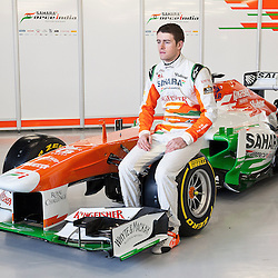 Paul Di Resta sitting on this years VJM06 Sahara Force India F1 car. Unveiled at Silverstone Circuit, Northamptonshire, England on the 1st February 2013.  WAYNE NEAL | STOCKPIX.EU