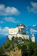 Tarasp Castle in the Lower Engadine Valley, Switzerland