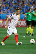 England Defender Gary Cahill before the Round of 16 Euro 2016 match between England and Iceland at Stade de Nice, Nice, France on 27 June 2016. Photo by Andy Walter.
