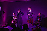 Sharleen Spiteri and Ewan McGregor on stage, Not Another Burns night.  Fundraising gala in aid of Clic Sargent and Children's Hospice Association Scotland (CHAS)St. Martin's Lane Hotel.  Monday 3rd March *** Local Caption *** -DO NOT ARCHIVE-© Copyright Photograph by Dafydd Jones. 248 Clapham Rd. London SW9 0PZ. Tel 0207 820 0771. www.dafjones.com.