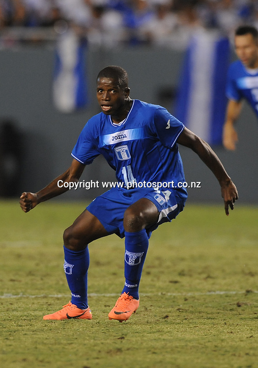 May 26, 2012: Honduras Oscar Boniek Garcia #14 in action during the game between the New Zealand and the Honduras at the Cotton Bowl Stadium in Dallas, Texas. New Zealand wins against Honduras, 1-0.