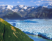 Aerial view of Hubbard Glacier, Gilbert Point, Wrangell-St. Eilias National Park, Alaska