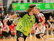 Andreas Nielsen (Nordsjælland) under kampen i Herrehåndbold Ligaen mellem Nordsjælland Håndbold og Aalborg Håndbold den 27. november 2019 i Helsinge Hallen (Foto: Claus Birch).