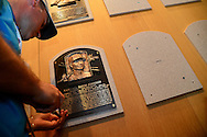 COOPERSTOWN, NY - JULY 26: Baseball Hall of Famer Randy Johnson's plaque is installed in the National Baseball Hall of Fame and Museum on July 26, 2015 in Cooperstown, NY. (Photo by Jennifer Stewart/Arizona Diamondbacks)