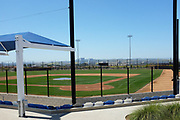 One of the Baseball Fields at the Orange County Great Park Seen From Behind Home Plate
