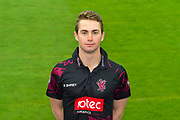 Head shot.  Eddie Byrom wearing the Somerset Royal London One-Day Cup kit at the media day at Somerset County Cricket Club at the Cooper Associates County Ground, Taunton, United Kingdom on 11 April 2018. Picture by Graham Hunt.