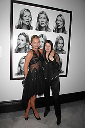 Left to right, KATE MOSS and photographer CORINNE DAY at the opening party for 'Face of Fashion' an exhibition of photographs by five of the World's leading fashion photographers held at the National Portrait Gallery, St.Martin's Lane, London on 12th February 2007.<br />
