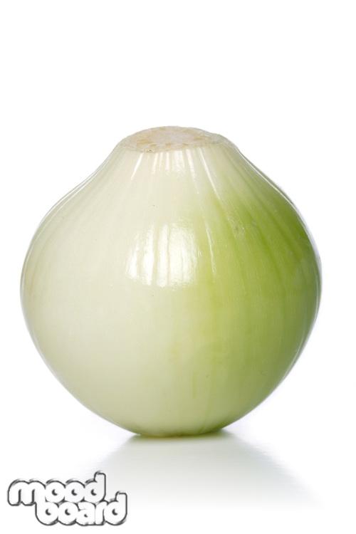 Onion on white background - studio shot