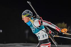 February 12, 2018 - Pyeongchang, Gangwon, South Korea - Katharina Innerhofer ofAustria competing at Women's 10km Pursuit, Biathlon, at olympics at Alpensia biathlon stadium, Pyeongchang, South Korea. on February 12, 2018. (Credit Image: © Ulrik Pedersen/NurPhoto via ZUMA Press)