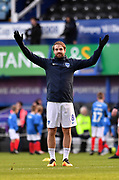 Portsmouth forward Brett Pitman (8) during the EFL Sky Bet League 1 match between Portsmouth and Sunderland at Fratton Park, Portsmouth, England on 22 December 2018.