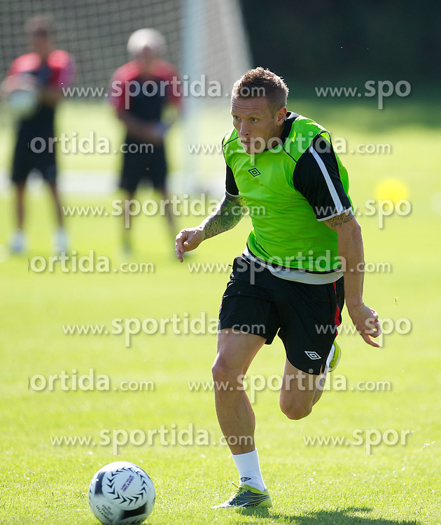 31.08.2010, Vale of Glamorgan Hotel, Cardiff, WAL, Training Nationalmannschaft Wales, im Bild Wales' captain Craig Bellamy during training, EXPA Pictures © 2010, PhotoCredit: EXPA/ Propaganda/ D. Rawcliffe *** ATTENTION *** UK OUT! / SPORTIDA PHOTO AGENCY