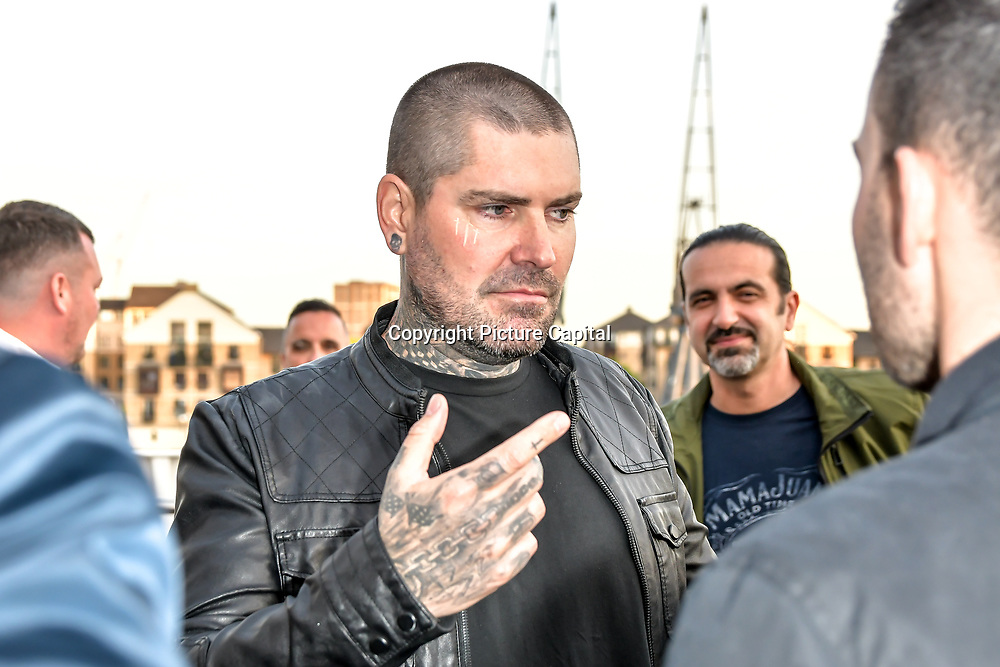 Shane Lynch is an Irish singer-songwriter attend the Driving holiday experience hosts yacht party at The Sunborn Yacht, Royal Victoria Dock on 31 May 2019, London, UK.