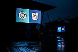 Manchester City v Bristol City branding outside the stadium - Rogan/JMP - 09/01/2018 - Etihad Stadium - Manchester, England - Manchester City v Bristol City - Carabao Cup Semi Final First Leg.