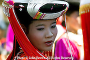 An ethnic Lisu women is attending a traditional dance ceremony in Pai, Northern Thailand.