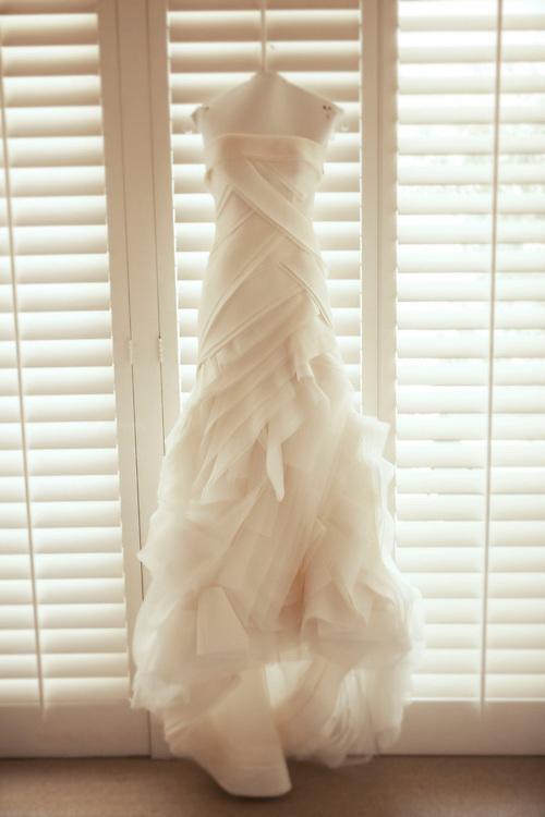 Ruffled designer wedding dress