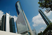 Jinmao Building (right) and Financial District, Pudong New Area, Shanghai, China