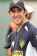 Glenn Maxwell of the Victorian Bushrangers  during the Bushrangers training session held at St Georges Park in Port Elizabeth on the 17 September 2010..Photo by: Shaun Roy/SPORTZPICS/CLT20