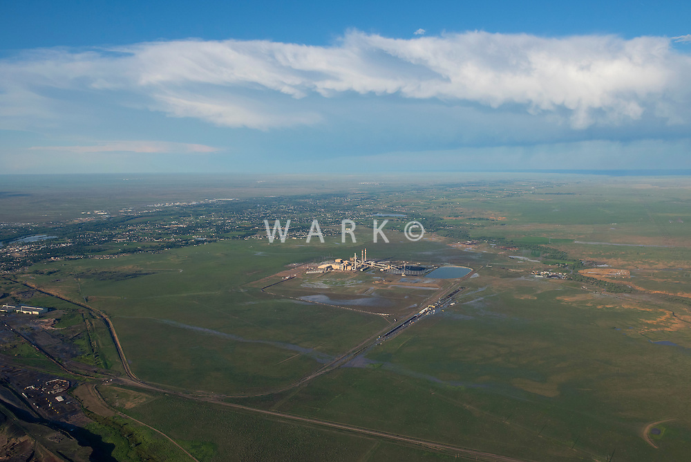 Comanche power plant and City of Pueblo.  Aug 8, 2014. 811502