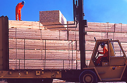 Stacked Finished Lumber Transport, Paper Mill
