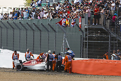 July 8, 2018 - Silverstone, Great Britain - Motorsports: FIA Formula One World Championship 2018, Grand Prix of Great Britain, ..#9 Marcus Ericsson (SWE, Alfa Romeo Sauber F1 Team) (Credit Image: © Hoch Zwei via ZUMA Wire)