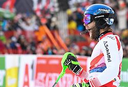 26.01.2020, Streif, Kitzbühel, AUT, FIS Weltcup Ski Alpin, Slalom, Herren, 2. Lauf, im Bild Marco Schwarz (AUT) zweiter Platz // Marco Schwarz of Austria second Place reacts after his 2nd run in the men's Slalom of FIS Ski Alpine World Cup at the Streif in Kitzbühel, Austria on 2020/01/26. EXPA Pictures © 2020, PhotoCredit: EXPA/ Erich Spiess
