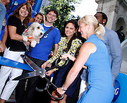 """Vanessa Lachey cuts ribbon as P&G Launches """"Everyday Effect Campaign"""" in Herald Square in New York City, New York on June 19, 2013."""