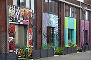 Nederland, Lent, 30-11-2006..Kunstgevels in Lent. Opleuken van een woonbuurt in een vinexwijk van Nijmegen. ..Foto: Flip Franssen/Hollandse Hoogte